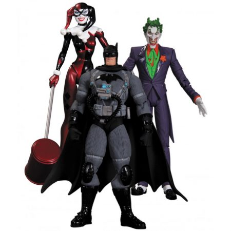 Set Figurine Batman, Joker, Harley Quinn 17cm
