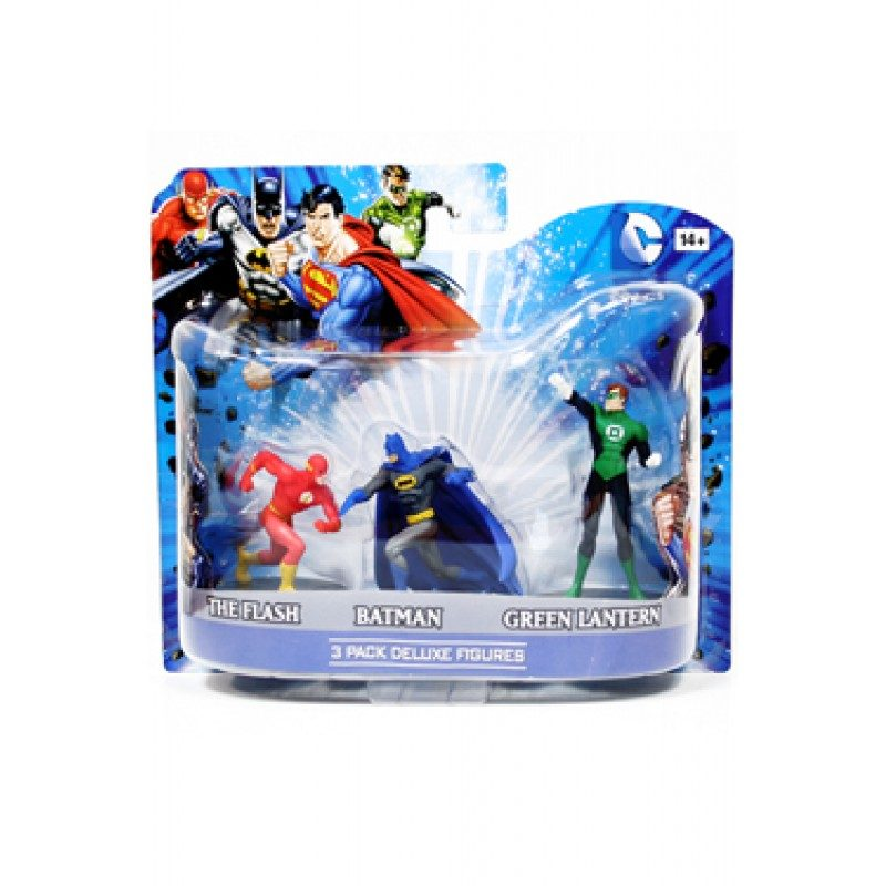 Set Figurine DC Flash, Batman, Green Lantern 10cm