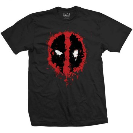 Tricou Deadpool Splash Negru